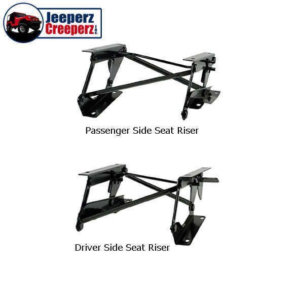 1976-1995 Jeep CJ/YJ Wrangler Fold Forward Seat Risers, L