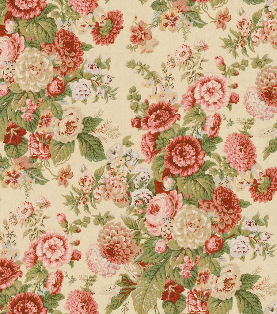 Home Decor Print Fabric Waverly Sitting Pretty Antique Shabby Chic