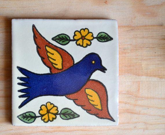 60 mexican talavera tiles handmade hand painted 4 x 4 Pintar azulejos a mano