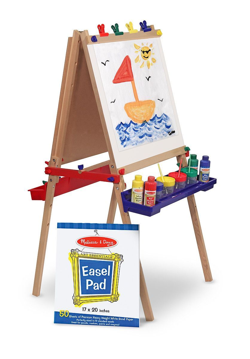 Melissa Doug Deluxe Wooden Standing Art Easel Products Art