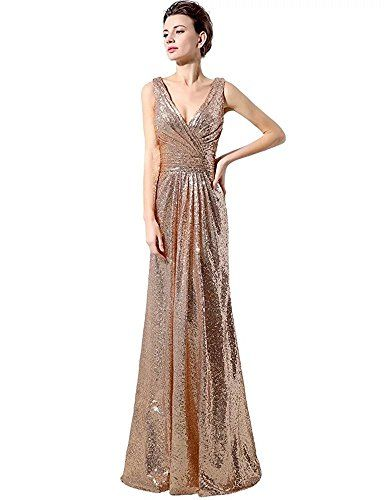 Lanier Gold Sequins Bridesmaid Dresses Formal Evening Gowns Gold
