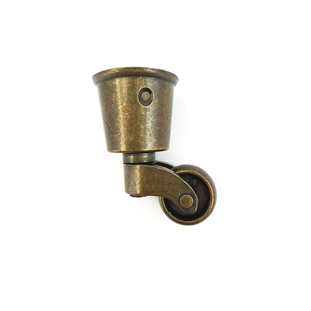 Antrader Metal Swivel Round Cup Caster Bronze Tone Furniture Casters