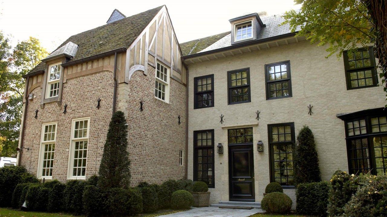 Klassiek belgisch landhuis huizen in house architecture