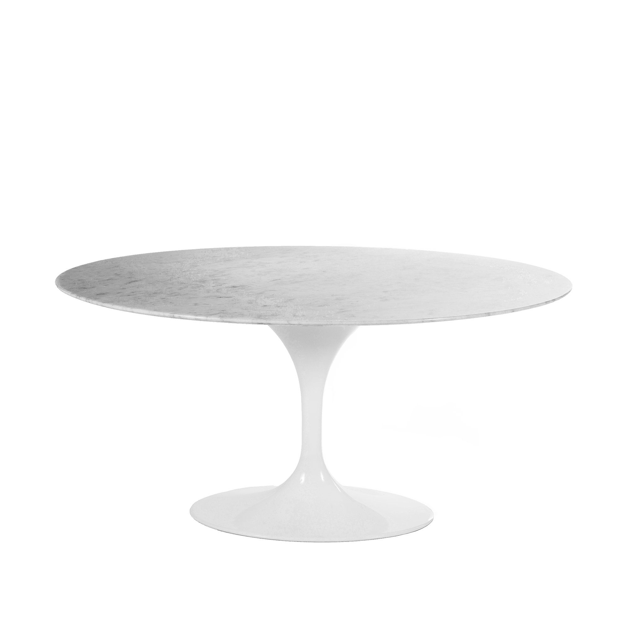 Carrara Marble Tulip Dining Table 60 X 42 Oval Tulip Dining