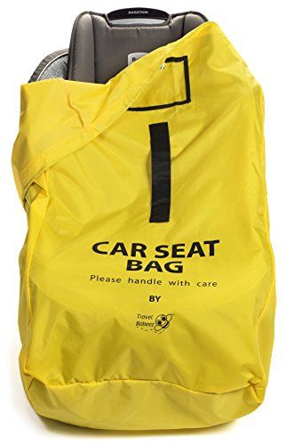 Travel Babeez Durable Car Seat Bag Airport Gate Check With EasytoCarry BackpackStyle Shoulder Straps