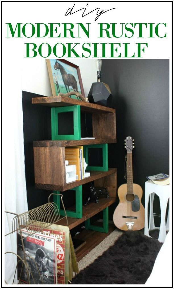 Rustic Bookshelf Easy Diy Bookcase For Beginners Blogger Home Projects We Love