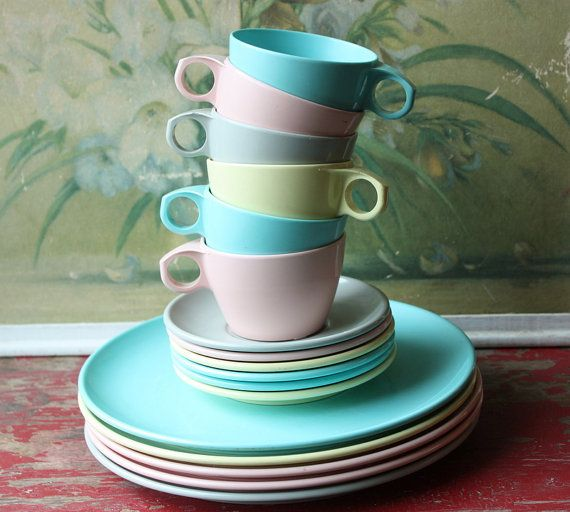 17 Piece Pastel Melmac Dinnerware Set By Imperial Ware & 17 Piece Pastel Melmac Dinnerware Set By Imperial Ware | Dinnerware ...