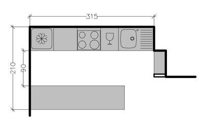 8 plans de cuisine am ricaine avec un bar cuisine kitchens and decoration for Cuisine 4m2 ikea