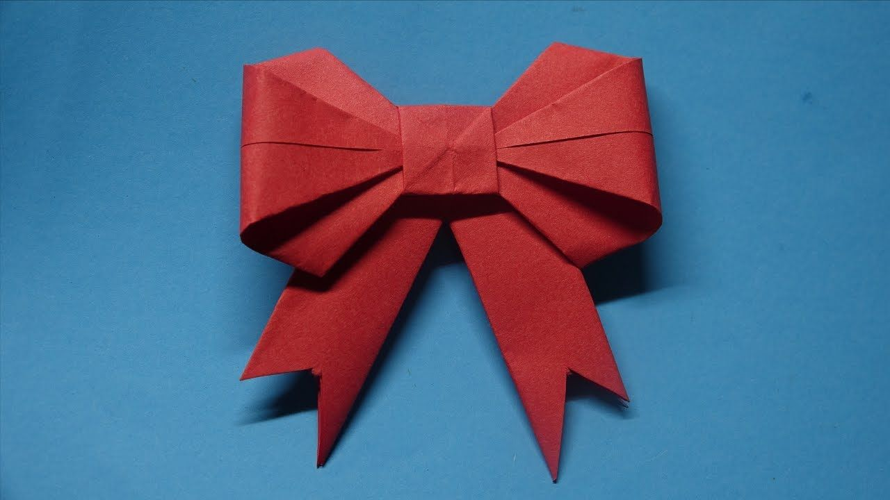 How To Make A Paper Bow Ribbon Easy Origami Tutorial Ribbons For Beginners Making Youtube Origami Tutorial Easy Origami Easy Origami Tutorial