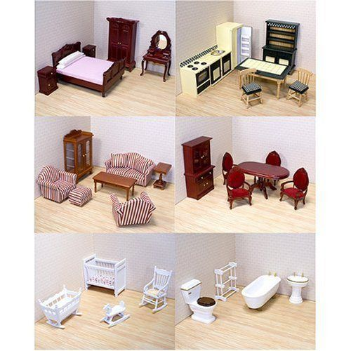 mini furniture sets. Melissa And Doug Dollhouse Furniture | Sets To Complete The Victorian Mini C