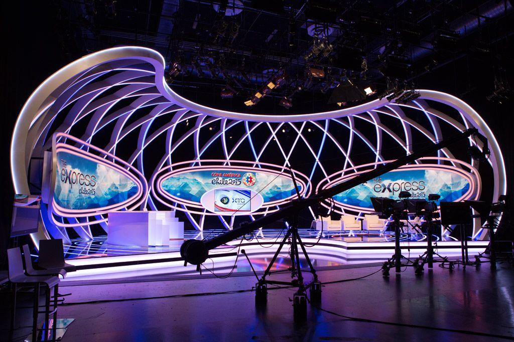 Studio Operations Imagina US Tv set design, Stage set