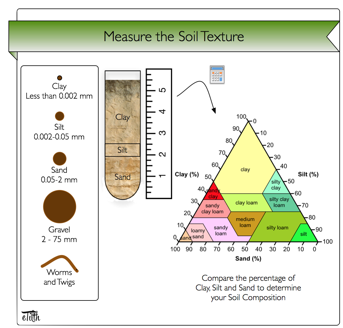 Triangle Shaped Graphic Showing Percent Of Clay Silt And