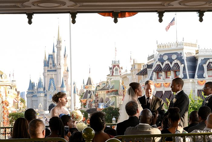 Fairy Tale Inspired Wedding Ceremony At The Walt Disney World Railroad Train Station