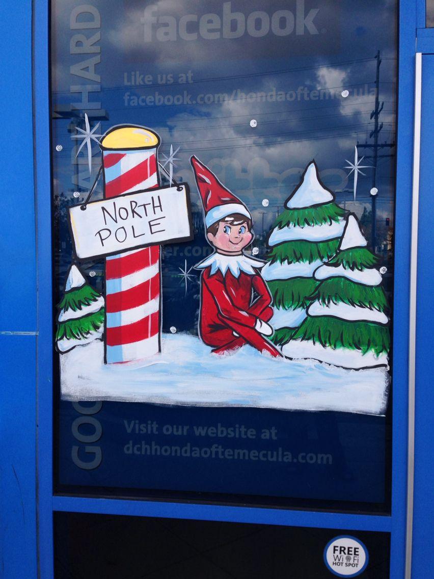 Holiday Window Painting