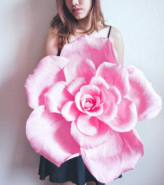 Handmade Giant Crepe Paper Flower With Or Without Stem Wedding
