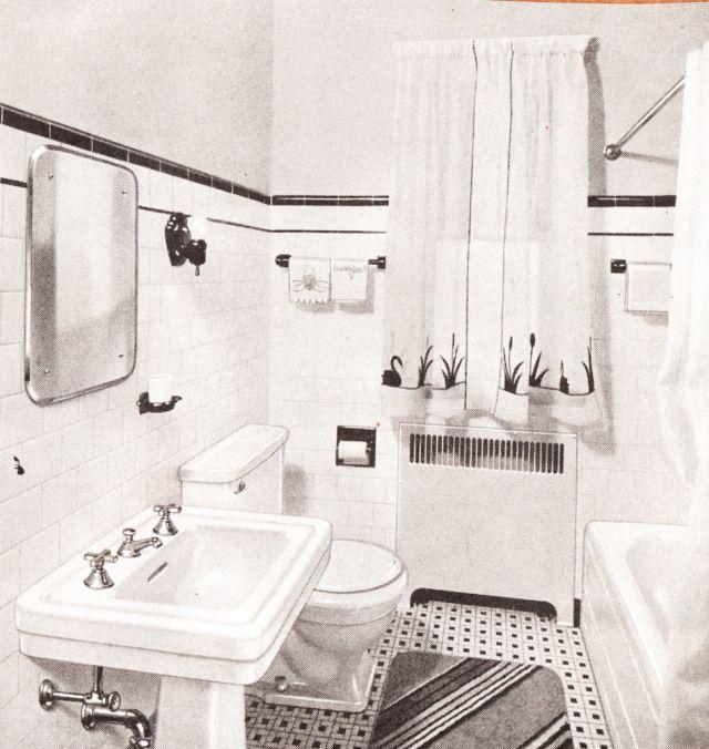 1940s bathroom 1940sbaths mid century scrapbook for Bathroom designs 1940s