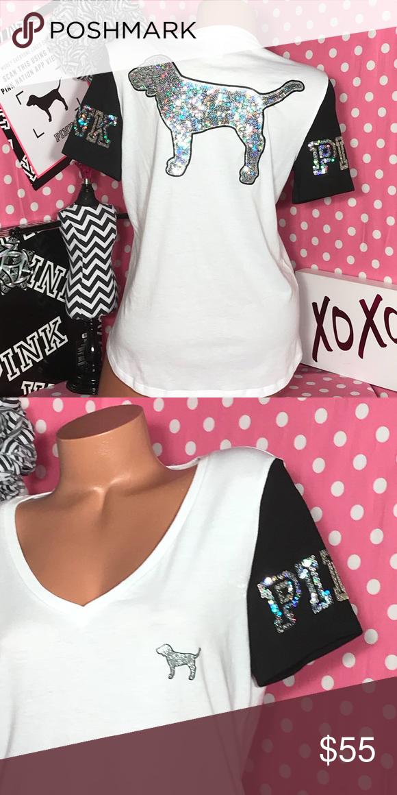 Victoria's Secret Pink Bling Dog Tshirt NWT Pink bling