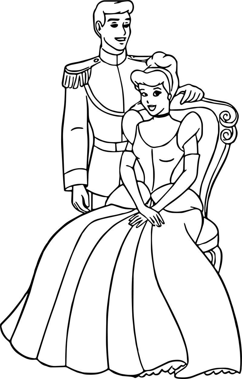 Cinderella And Prince Charming Coloring Pages 25