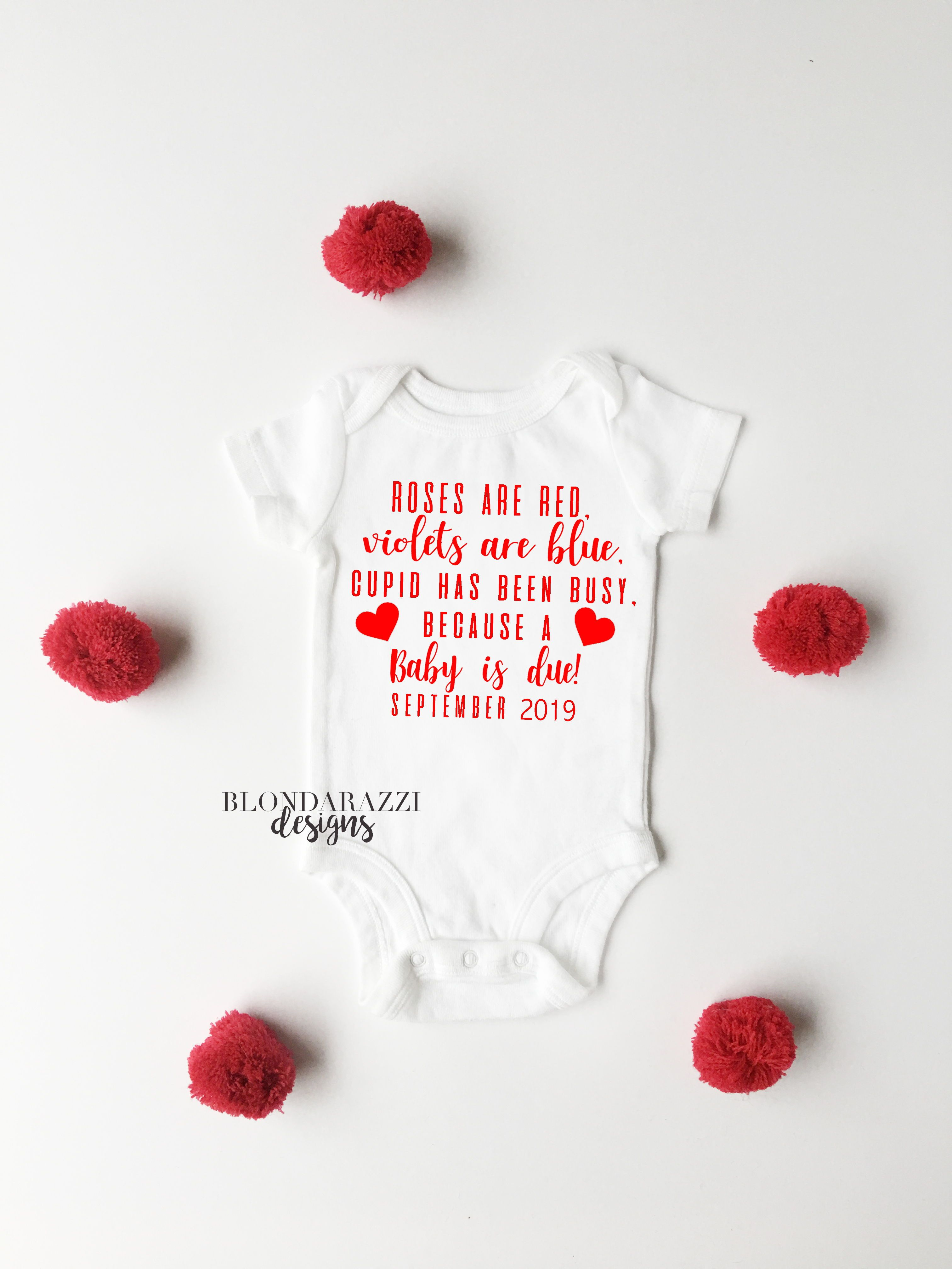 Pin On Valentine S Day Baby Announcements