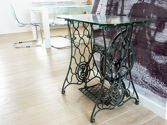 Details About Original Old Singer Sewing Machine Table