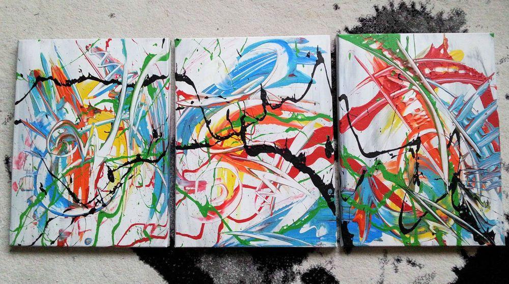 Wunderbar Gemälde Abstrakt Acryl Bilder Modern Bild Kunst Original Deko Wandbild
