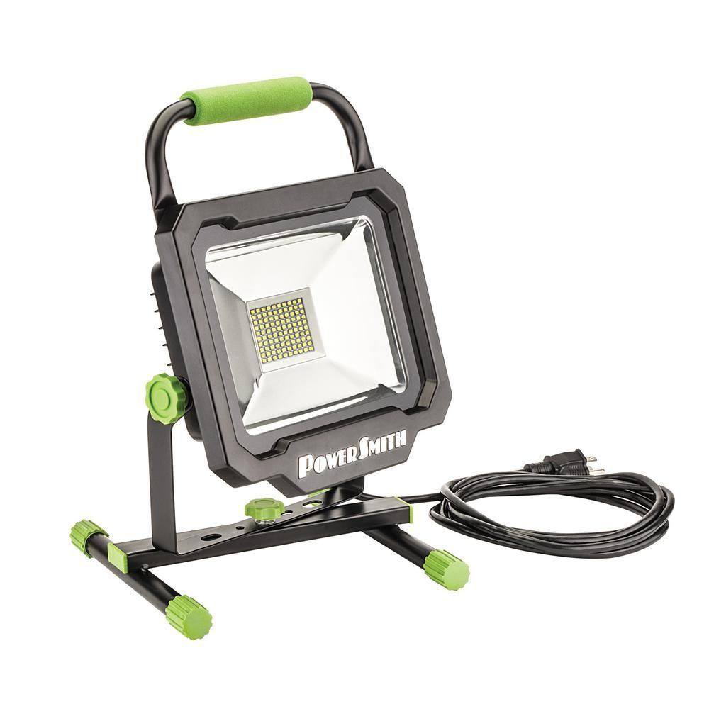 Powersmith 50 Watt 5000 Lumens Portable Led Work Light Led Work Light Work Lights Led