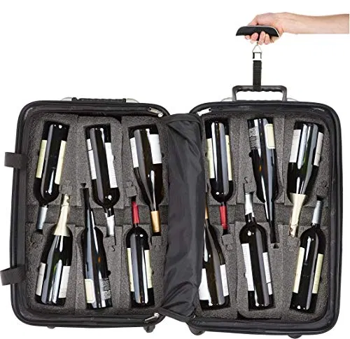 Bundle 2 Items Vingardevalise 12 Bottle Wine Travel Suitcase Offers Lightbagtravel Com Digital Luggage Scale Luggage Scale Wine Travel