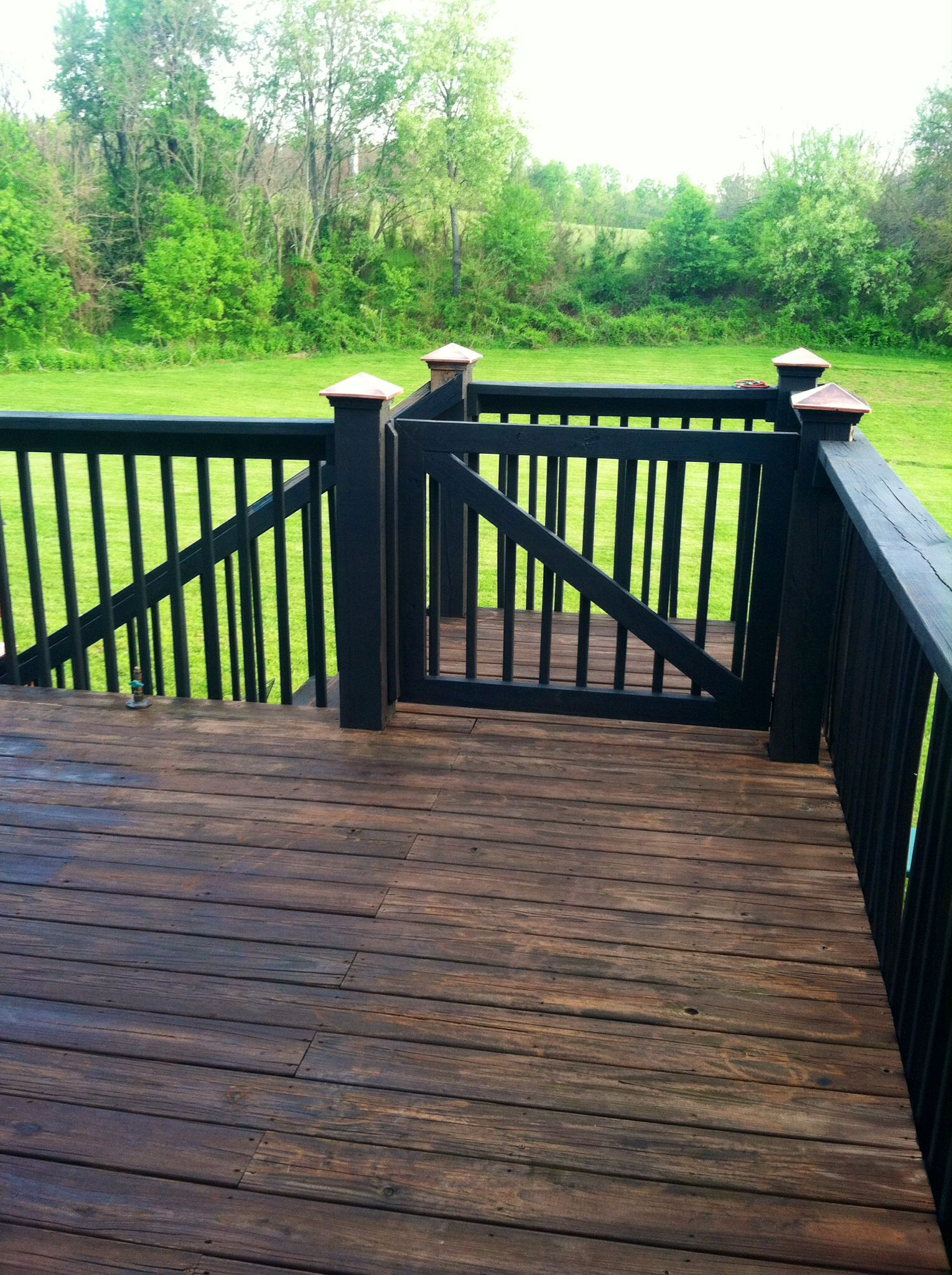 Two Toned Deck Fence