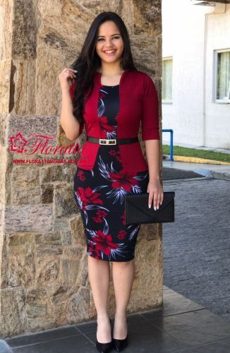 cde9692ae Vestido Executiva (parece blazer mais é um vestido com blazer embutido)  confeccionado Suplex com