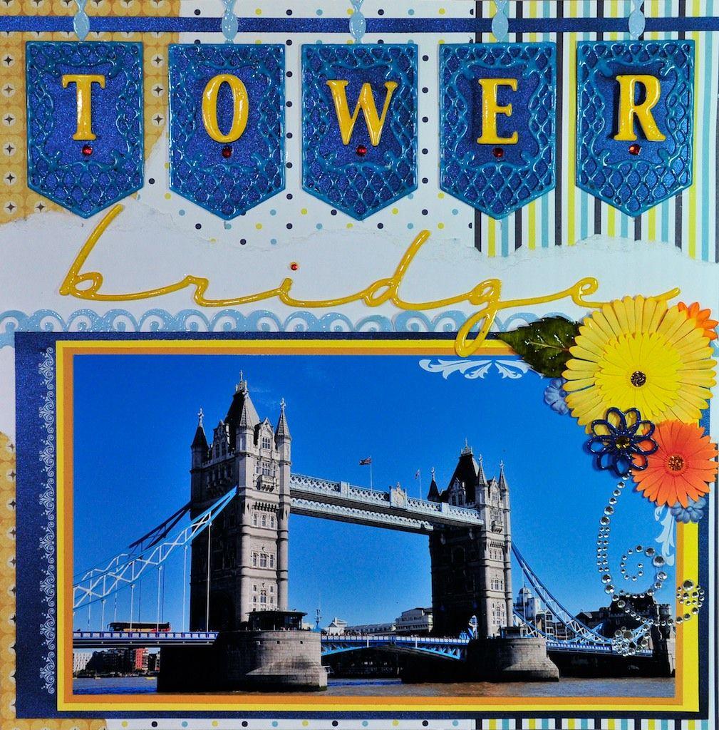 How to scrapbook uk - Tower Bridge London Uk Right Side Scrapbook Com