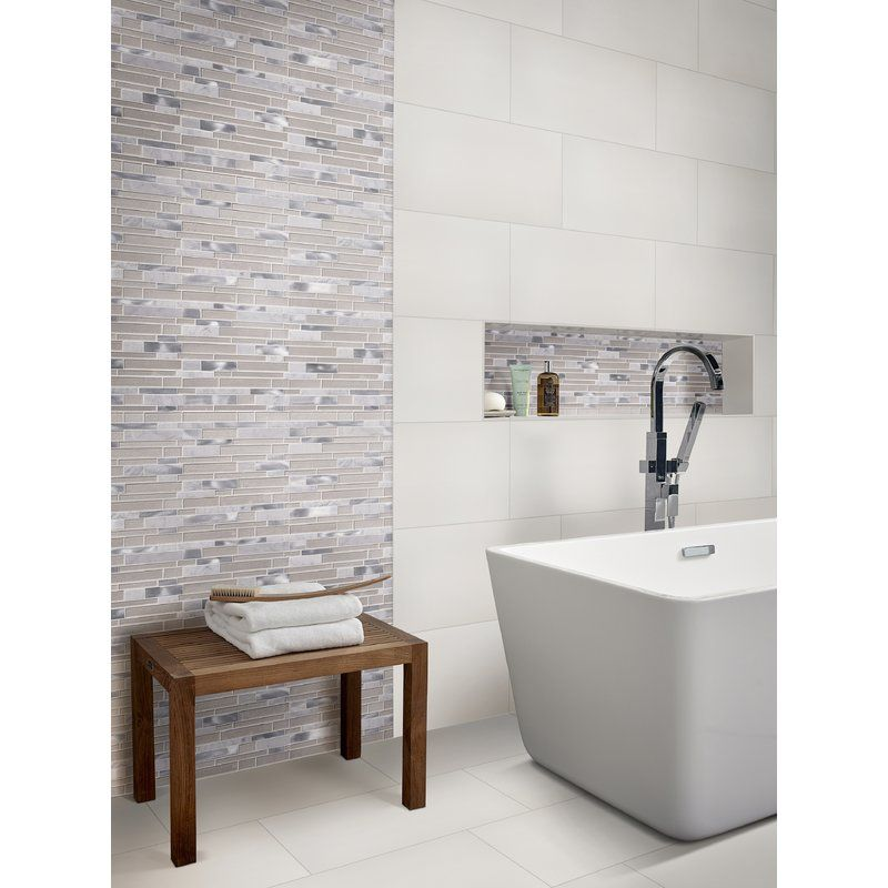 Domino 12 X 24 Porcelain Tile Bathroom Trends Bathroom Flooring Trends Bathroom Interior