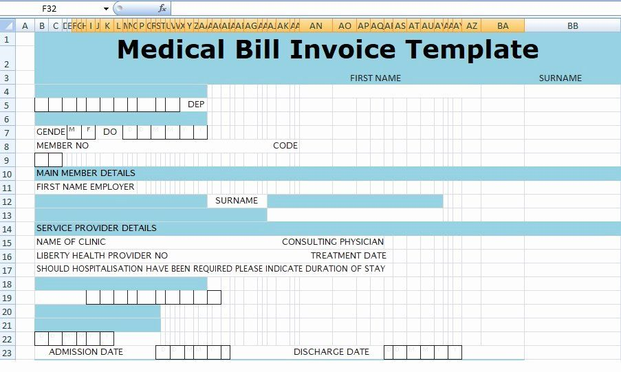 Invoice For Medical Records Template Best Of Medical Bill Invoice Template Xls Invoice Template Invoice Template Word Invoice Layout