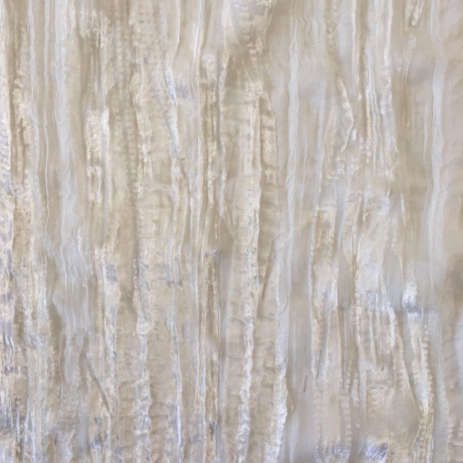 Crinkle Silk/Rayon Burnout Velvet - White