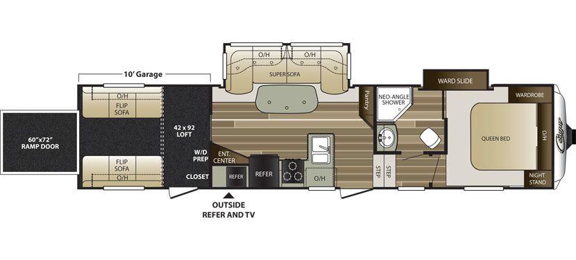 Floorplan Image Of Keystone Cougar Model 326srxwe Bunk House