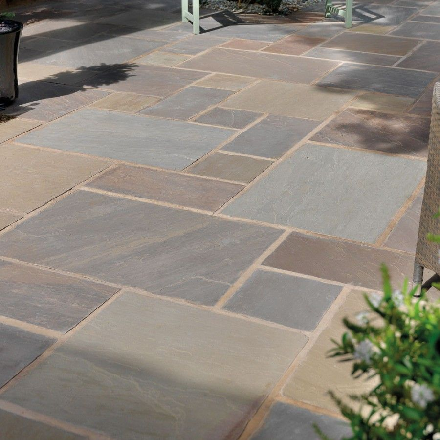 Pavestone paving riven sandstone raj blend paving slabs