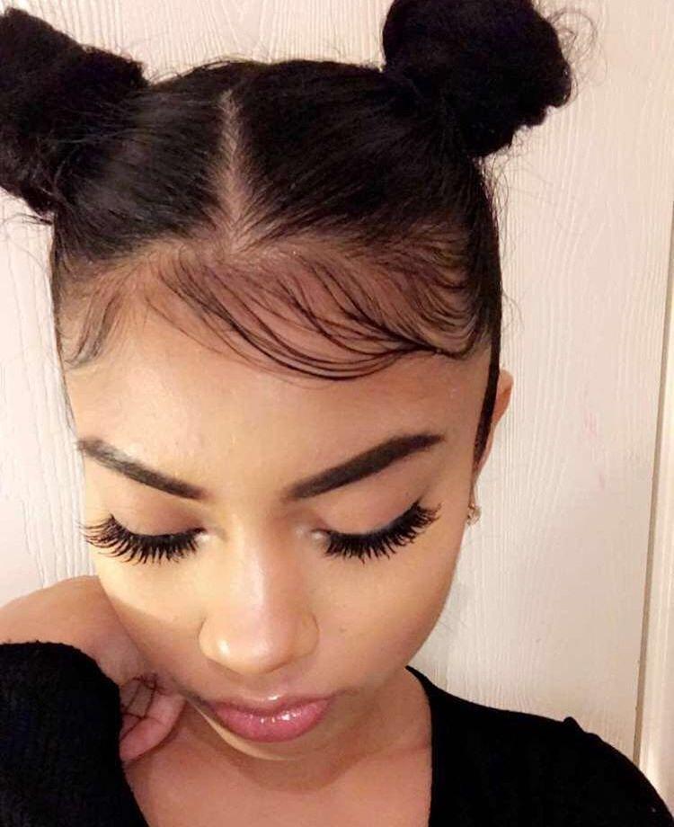 Buns W Baby Hair Hair Hair Hair Styles Natural Hair Styles