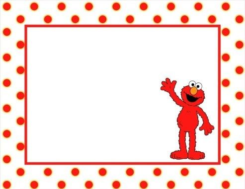 Elmo Birthday Party Ideas And Free Printable Invitation Template I Could Use This As Paper For Kids To Coloring During The