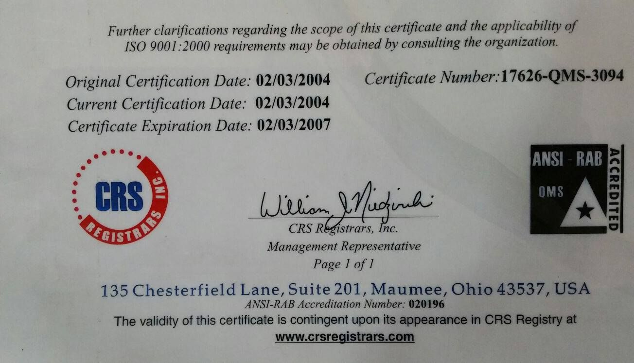 GTM got I.S.O Certified in 2004. It's almost 11 years and the group has maintained it's quality and customer satisfaction in every possible way.