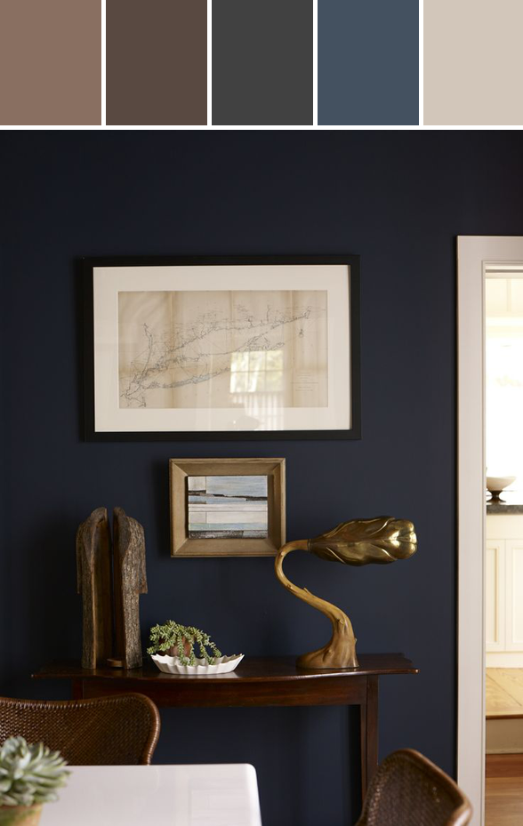 Dark Navy Wall Color Stylyze Styleboard Navy Living Rooms Living Room Color Schemes Blue Grey Living Room