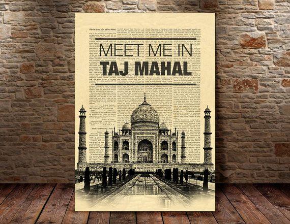 Taj Mahal Wall Art india print india decor Taj by iLoveArtPrint ...
