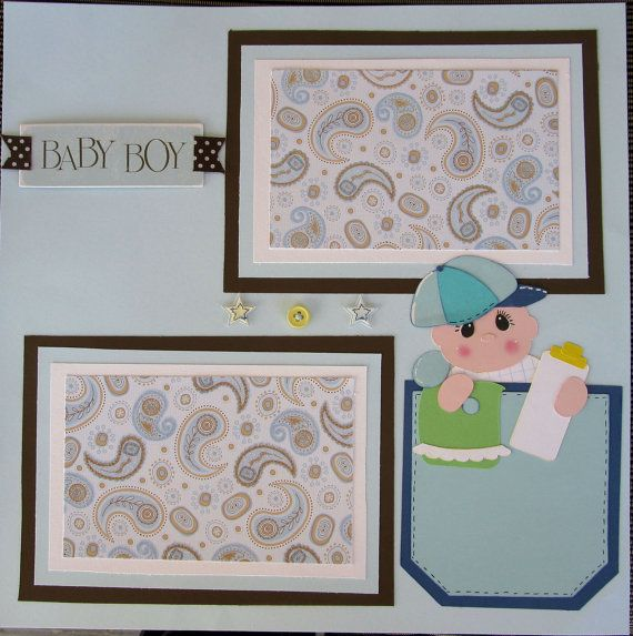 Baby Boy Scrapbook Page Click Here To Visit The Best Site For
