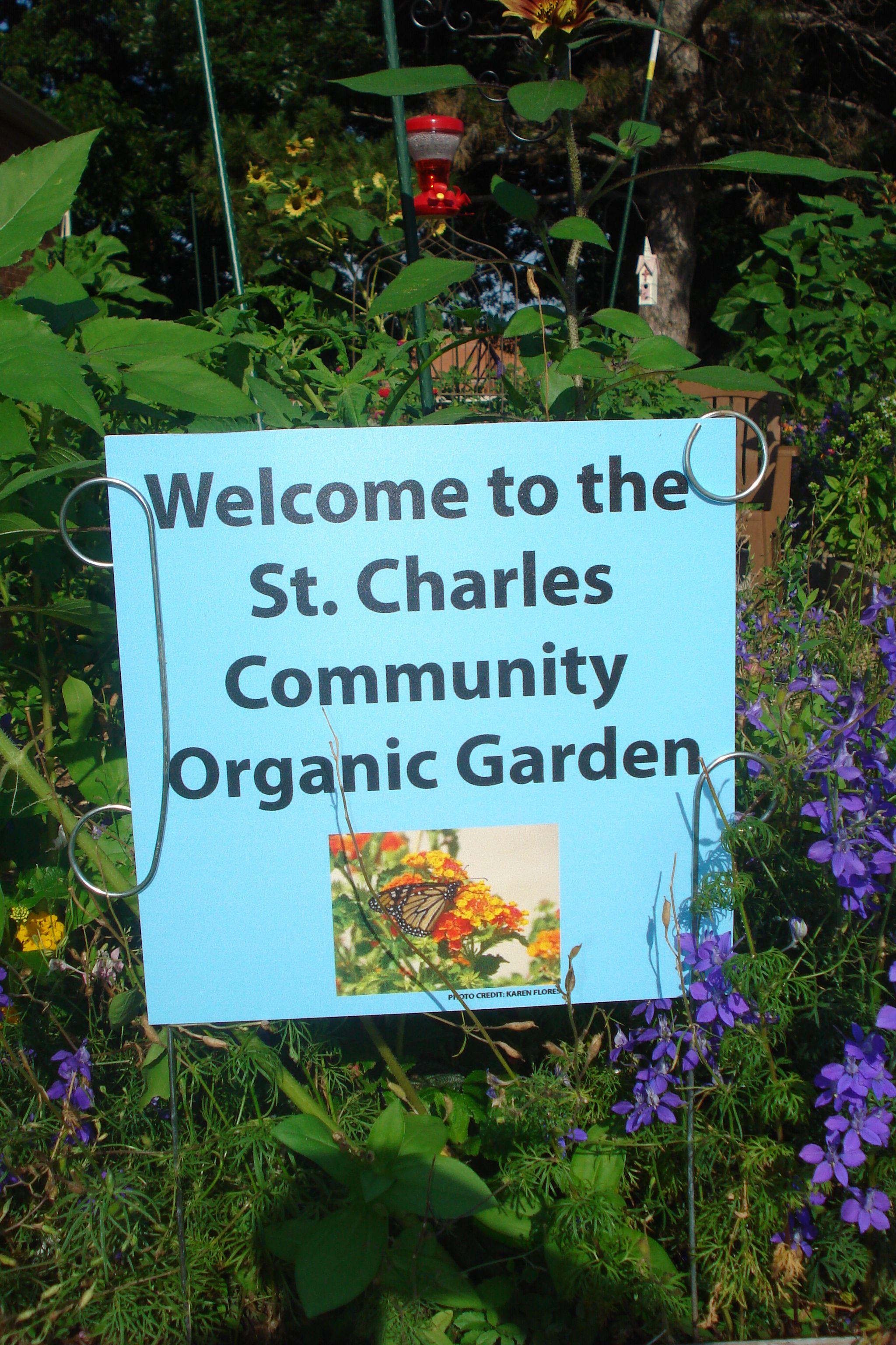 sign Community gardening, sign, Organic