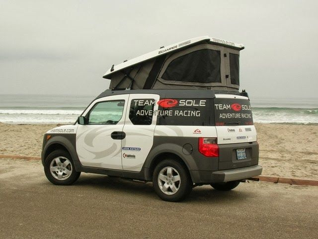 Compact Camping Vans Honda Element Honda Element Camping Honda