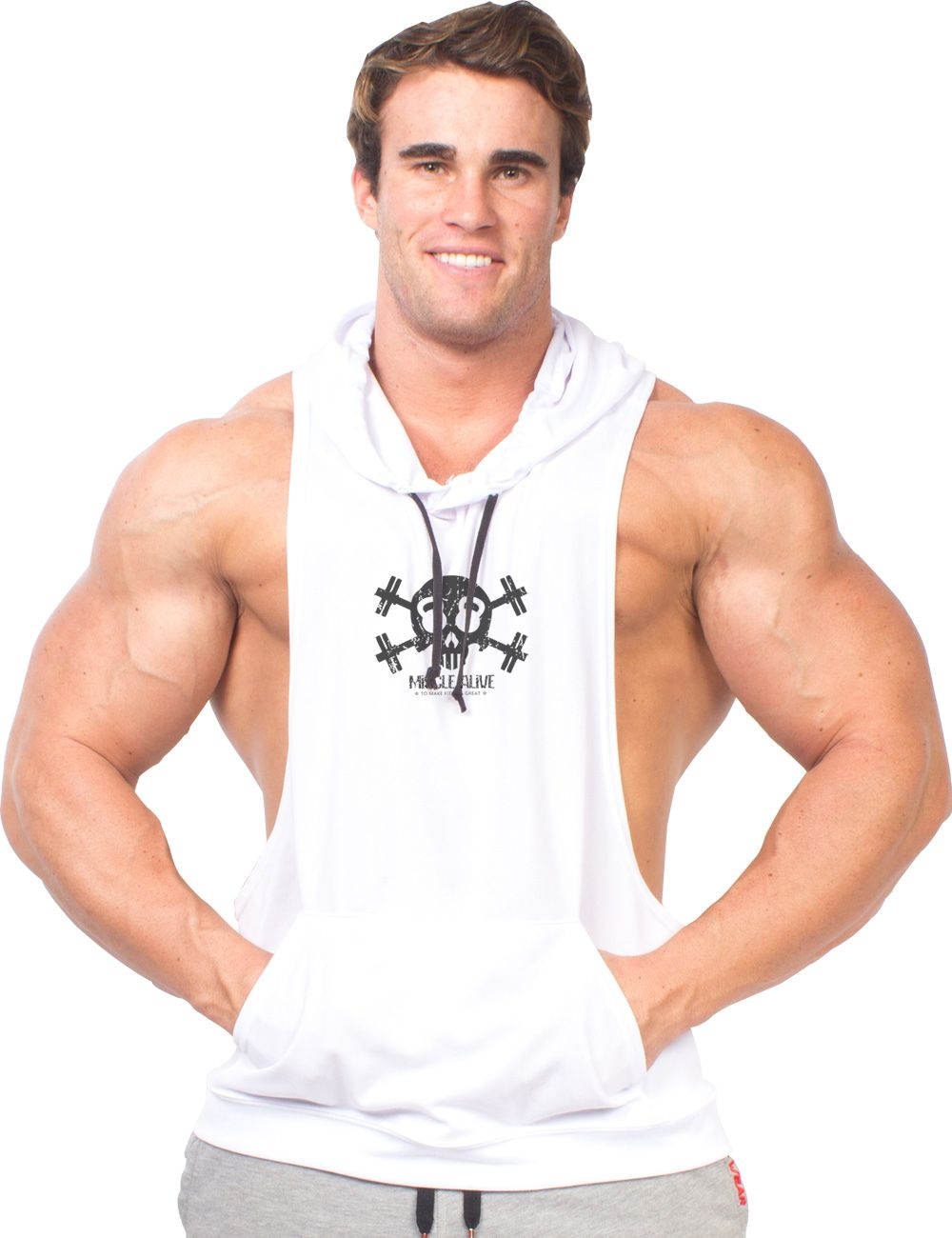 2f47209df6a0d4 Click to Buy    Sportswear Bodybuilding Stringer Sleeveless Skull Hoodies  Men Hoodie Fitness Fashion Sweatshirt Muscle Clothes  Affiliate