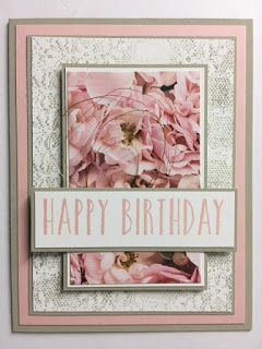 Perennial Birthday, Touches of Texture, Petal Promenade, Birthday Card