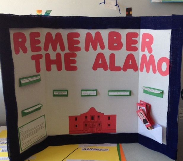 Remember The Alamo I Created This Interactive Bulletin Board To Aid In Teaching Students About The Battle Of Interactive Bulletin Board Social Studies Crafts