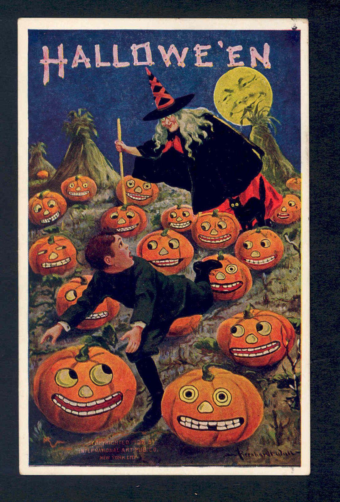 vintage halloween postcard ebay