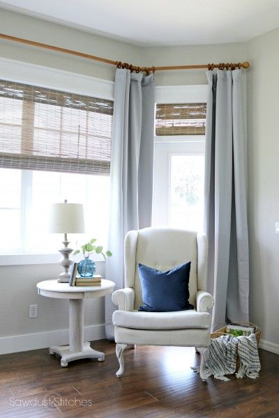 bay windows how to bay window curtain rods