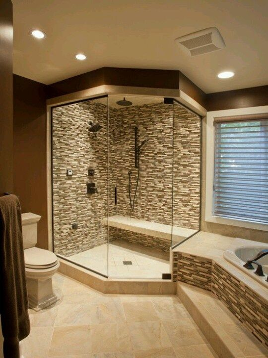 Although It S Nice I Wouldn T Have The See Through Shower Modern Master Bathroom Remodel Bathroom Remodel Master Modern Master Bathroom
