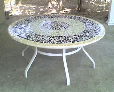 Mosaic Tabletop Ideas Wide Custom Broken Tile Table